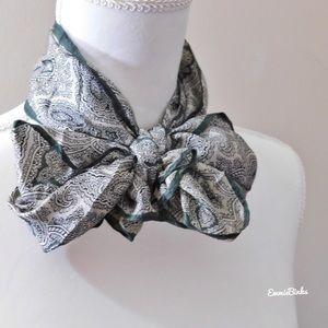 💥 Vintage Glentex Japanese Silk Hand Rolled Scarf